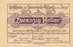 Austria, 20 Heller, FS 54e