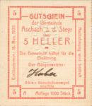 Austria, 5 Heller, FS 54IIc v3