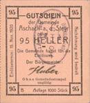 Austria, 95 Heller, FS 54IId v1