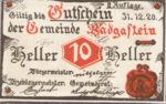 Austria, 10 Heller, FS 75IIa