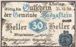 Austria, 30 Heller, FS 75IIa