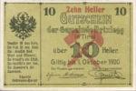 Austria, 10 Heller, FS 104c