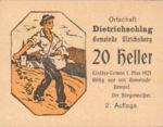 Austria, 20 Heller, FS 123IB