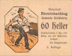 Austria, 60 Heller, FS 123IB