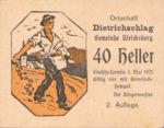 Austria, 40 Heller, FS 123IB