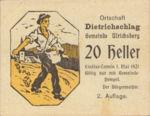 Austria, 20 Heller, FS 123IC