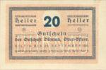 Austria, 20 Heller, FS 137b