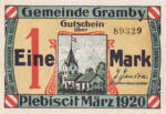 Germany, 1 Mark, 464.1a