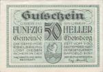 Austria, 50 Heller, FS 140II