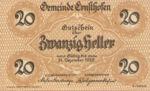 Austria, 20 Heller, FS 184a