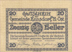 Austria, 20 Heller, FS 178e