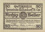 Austria, 50 Heller, FS 178e