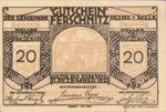 Austria, 20 Heller, FS 198e