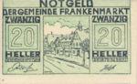 Austria, 20 Heller, FS 209h