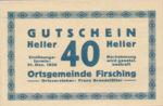 Austria, 40 Heller, FS 201IVa