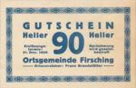 Austria, 90 Heller, FS 201IVa
