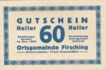 Austria, 60 Heller, FS 201IVa