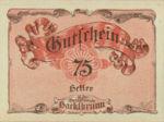Austria, 75 Heller, FS 323IIg