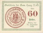 Austria, 60 Heller, FS 318VIIb1