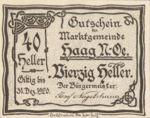 Austria, 40 Heller, FS 318IVa