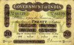 India, 20 Rupee, A-0012NL