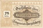 Austria, 75 Heller, FS 349IIc