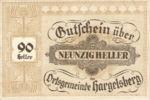Austria, 90 Heller, FS 349IIc