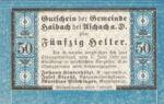 Austria, 50 Heller, FS 332IA