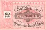 Austria, 90 Heller, FS 349IIa