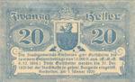 Austria, 20 Heller, FS 37Ic