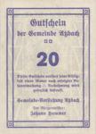 Austria, 20 Heller, FS 62d
