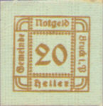 Austria, 20 Heller, FS 107Ie
