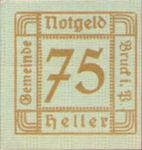 Austria, 75 Heller, FS 107Ie