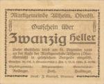 Austria, 20 Heller, FS 32aC