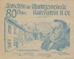 Austria, 80 Heller, FS 808IIId