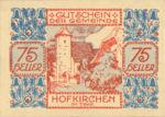 Austria, 75 Heller, FS 387IIIe