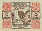 Austria, 75 Heller, FS 387IIIf