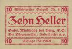 Austria, 10 Heller, FS 1243IVc