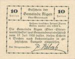 Austria, 10 Heller, FS 14c