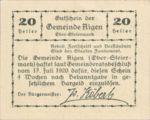 Austria, 20 Heller, FS 14c
