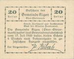 Austria, 20 Heller, FS 14d