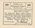Austria, 10 Heller, FS 14f