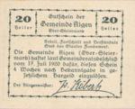 Austria, 20 Heller, FS 14g