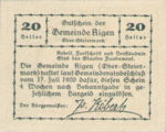 Austria, 20 Heller, FS 14a