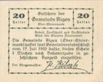 Austria, 20 Heller, FS 14b