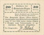 Austria, 20 Heller, FS 14e