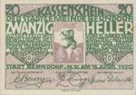 Austria, 20 Heller, FS 83a