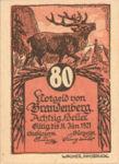 Austria, 80 Heller, FS 99a