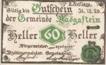 Austria, 60 Heller, FS 75IIa