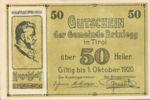 Austria, 50 Heller, FS 104a